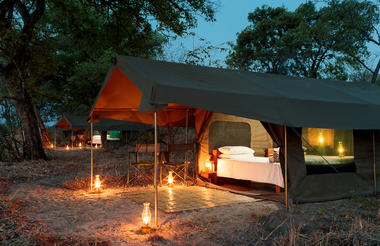 Safari tents, Nkonzi Camp