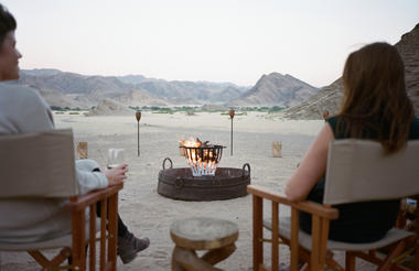 Hoanib Valley Camp - View of Fire-pit