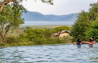 Swimming pool overlooking Pongola Game Reserve